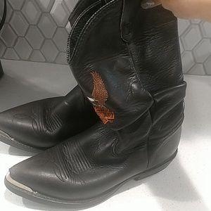 Vintage Harley Davidson cowboy boots size 8